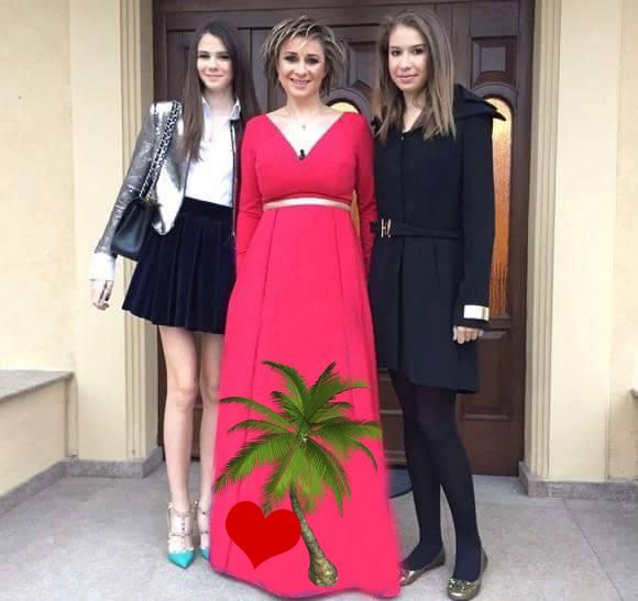 PRODAN rochie palmier