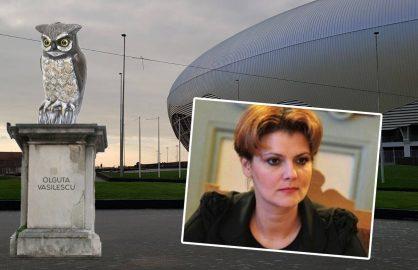 Suporterii craioveni i-au facut statuie Olgutei Vasilescu la noul stadion