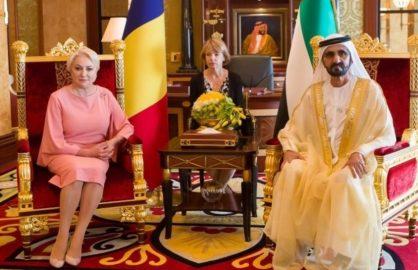 Viorica Dancila a incercat sa-i convinga pe arabi sa investeasca in fotbalul romanesc
