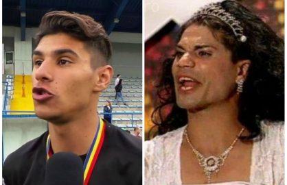 "Fata nestiuta a lui Florinel Coman! Cand nu joaca fotbal, ""Mbappe"" se transforma in drag queen!"