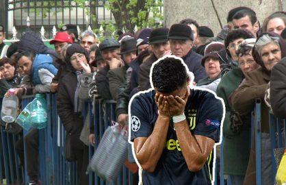 Sute de pelerini au venit cu sticle la lacul minunat izvorat din lacrimile lui Ronaldo