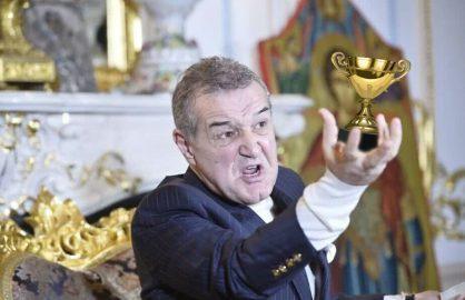 Teja, luat la bataie dupa ce i-a facut cadou lui Gigi Becali de ziua lui o replica a trofeului Ligii 1