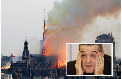 """Gigi Becali vrea sa doneze pentru reconstructia catedralei Notre Dame! """"Da' sa o faca ortodoxa!"""""""