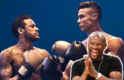 "Mayweather rade de Ronaldo si Neymar: ""Intru in ring si ii bat pe amandoi cu o mana la spate!"""