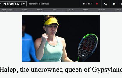 """Rasism sau greseala? Un ziar australian o numeste pe Simona Halep """"regina Taramului t*ganilor"""""""